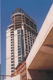 Hyatt Regency hotel under construction at Niagara Falls, Ontario.