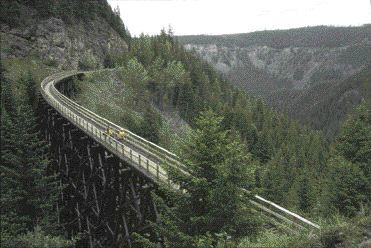 Bridge in Myra Canyon, B.C.
