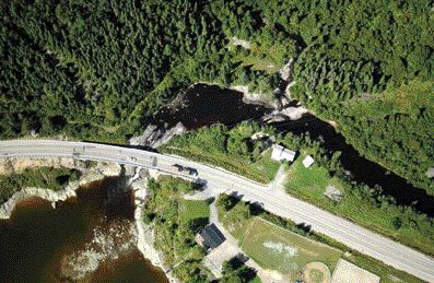 Image of road in northeastern Quebec captured by the system.