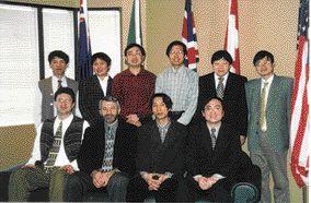 AWARD OF EXCELLENCE. Sihu Basin, China. Golder Associates: Back row (far left) Shouhong Wu. Front row (far left) Mike Bender; (second left) Les Sawatsky; (far right) Dejiang Long.