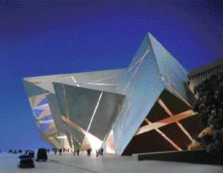 Model view of the ROM crystal entrance.