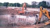 Partial demolition of existing clarifiers