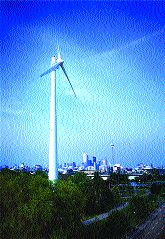 The 30-storey turbine produced 1,000,000 kWh of power last year.WindShare