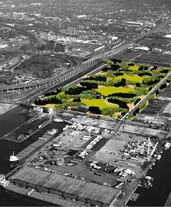 """The """"Camouflage"""" scheme proposed for Toronto's new waterfront park."""