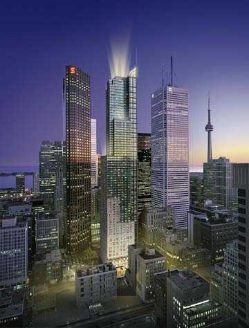 Architectural rendering of planned Trump Tower in downtown Toronto