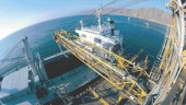 Fisheye view of the Coloso Port modifications in Chile by Sandwell Engineering.