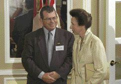 HRH Princess Anne and Dave Chalcroft, P.Eng., RedR Canada Chair.