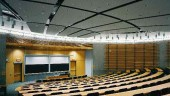 Classroom in building AI, with subdued lighting to suit the laptop-user-anywhere requirement. Photograph: Steven Evans