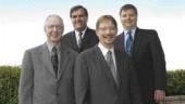 AWARD OF EXCELLENCE. Honda Manufacturing Plant A2, Alabama. Giffels Associates of Toronto. Left to right, front: Donald Ferguson, Daniel Crosthwaite. Back row: John DiGiuseppe, Paul Williams.