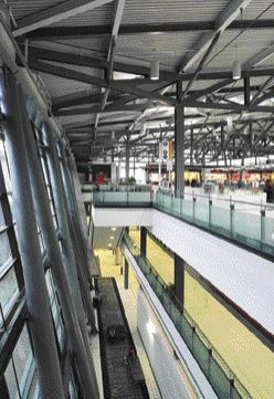 Upper level of terminal.
