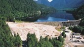 Earth works at the Seymour Dam built in 1961 to make it seismically sound. Source: GVRD