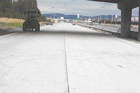 Ecosmart concrete installed on Highway 1-90 in Spokane, Washington. Source: Colin Joudrie, Teck Cominco.