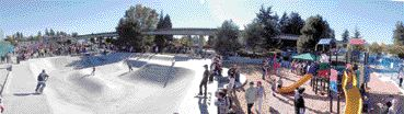 Metro Skate Park completed in Burnaby, B.C. last year with Ecosmart concrete containing both fly ash and Hard-Cem. Source: Colin Joudrie, Teck Cominco.