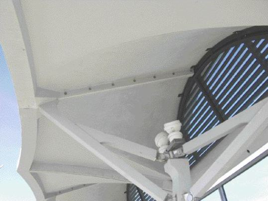 Precast, thin-shelled canopies installed at the Shawnessy LRT station in Calgary. Source: Lafarge