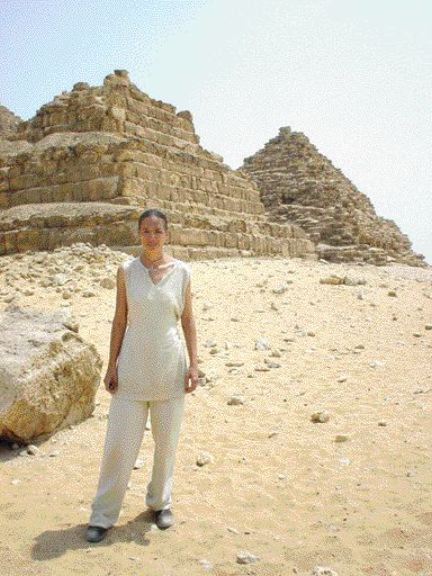 """Baillie in Egypt for the BBC television series """"Building the Impossible."""""""