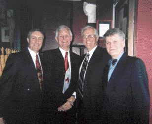 Left to right: Dale Craig, ACEC Vice-Chair, the Honourable John Godfrey, PC, Minister of State (Infrastructure), Allen Williams, ACEC Chairman, and Claude Paul Boivin, ACEC President.