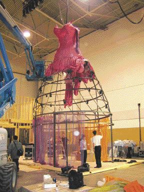 "Erecting ""The Big Frock"""