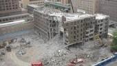 demolition under way.