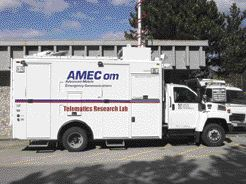 Simon Fraser University's Advanced Mobile Emergency Communications Research Vehicle.
