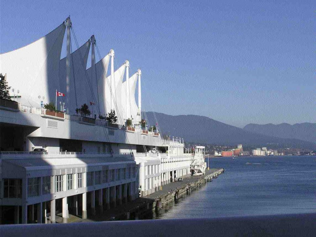 View from Canada Place where the Port Authority command centre is located.