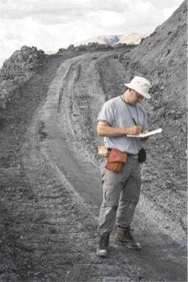 Greg Dipple at the Cassiar Mine in northern B.C. The tailings' mineral crusts have bound atmospheric carbon dioxide.