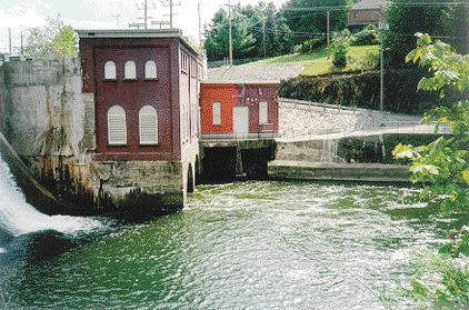 Rock Forest dam; there are eight power stations and three major substations in total on the waterways within the Sherbrooke municipality.