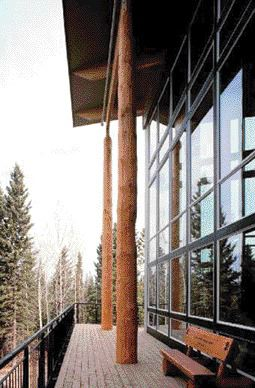two buildings designed using environmental criteria, the ) Hinton Government Centre, Alberta. The latter uses half the energy stipulated in the Model National Energy Code for Buildings.