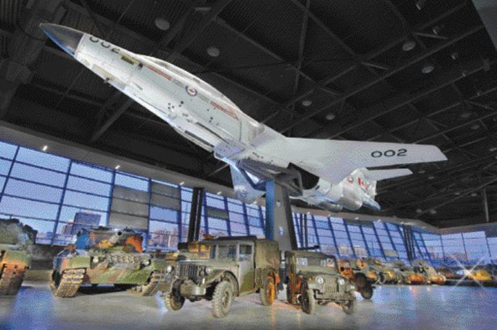 LeBreton Gallery of large artifacts, including the CF-101 Voodoo Interceptor.