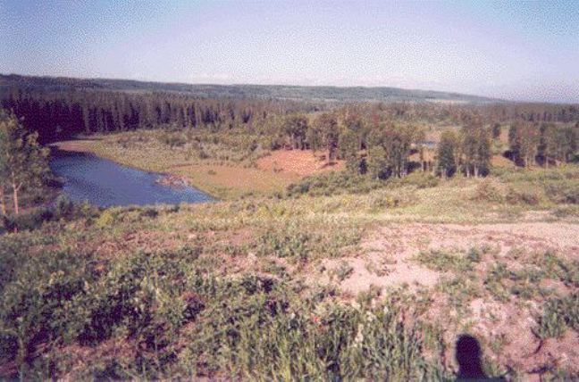 site with Elbow River to the south. The land is now certified for residential use.