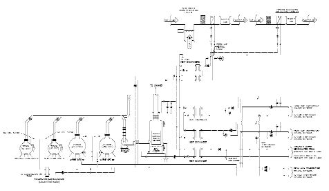 Hydronic flow diagram of retrofitted heating system.