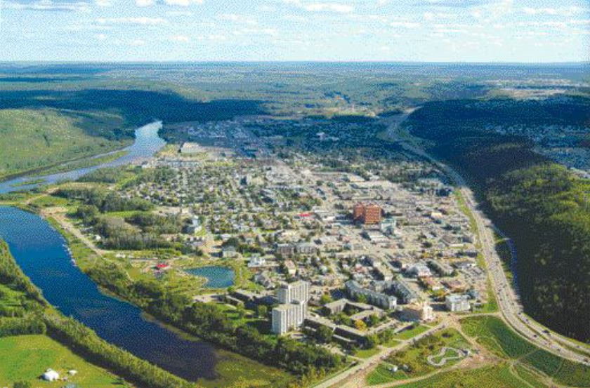 Fort McMurray's downtown.