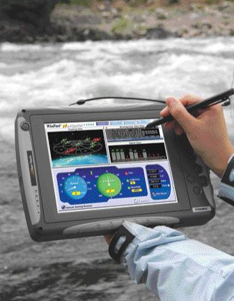 "Rugged ""DuoTouch"" tablet PC by Itronix."