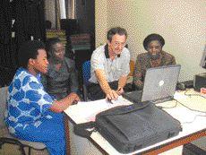 Computer skills training at the Supreme Court of Rwanda.