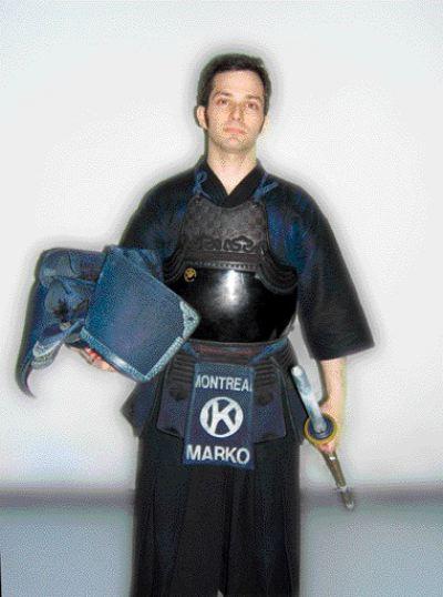 Marko in combat regalia.