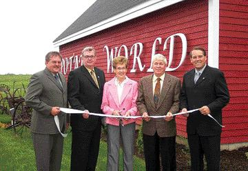 Andy Savoy (far right) at the opening of Potato World, the New Brunswick Potato Museum in Florenceville, N.B. in 2004.
