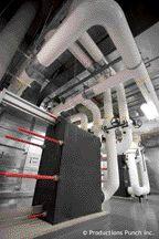 Heat exchanger in mechanical room