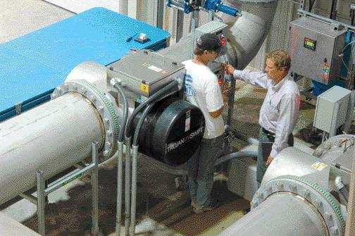 UV disinfection reactor unit.