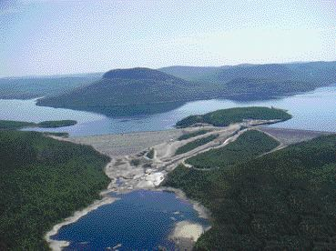 General view of dam site.