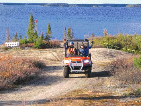 Cree employees, happy to see the land being restored.