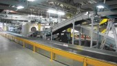 Hold baggage conveyors and explosive detection screening unit (in white)