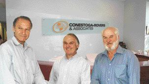 Conestoga-Rovers' founding partners (left to right) Frank Riley, Ron Schwark and Don Haycock.