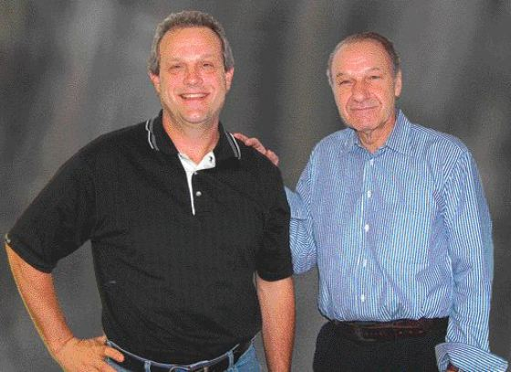 current president Ed Roberts, P.Eng. (left) and Frank Rovers, chairman of the board.