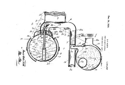 Keith's cutaway patent drawing of the Icyball