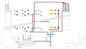 Figure 1: life safety circuits (red) for a highrise building.