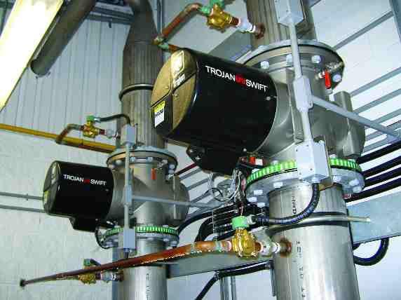 Trojan TechnologiesUV disinfection reactors in Cardinal, Ontario.