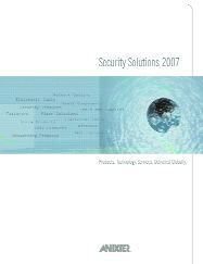 Anixter Security Products & Solutions Catalog