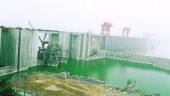 Three Gorges Dam, China under construction.