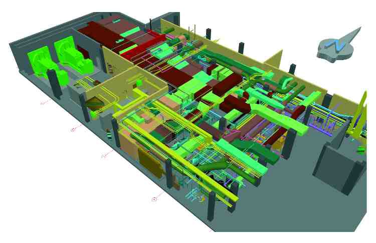 Above: to avoid delays on site, Dessau created three-dimensional models of all the mechanical and electrical rooms. The retrofit will result in a 48% reduction in energy use.