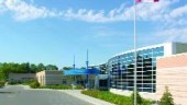 The hospital uses geothermal energy to preheat ventilation air from outside.