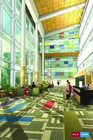 Musson Cattell Mackey/Marion LandryArtist's impression of interior atrium.